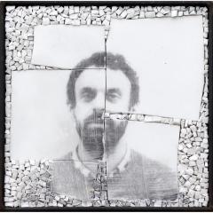 Monstre 2, photo-montage photographique sur mosaïque