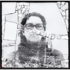Monstre 4, photo-montage photographique sur mosaïque contemporaine