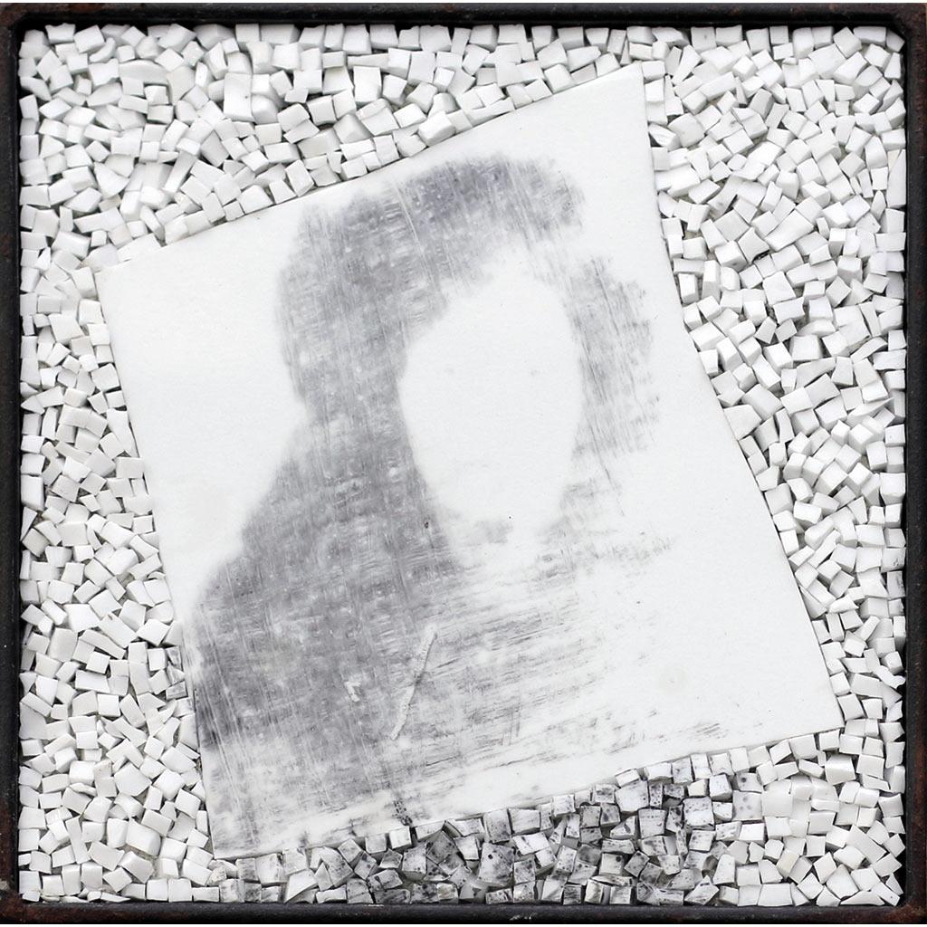 Monstre 1, portrait montage photographique sur mosaïque