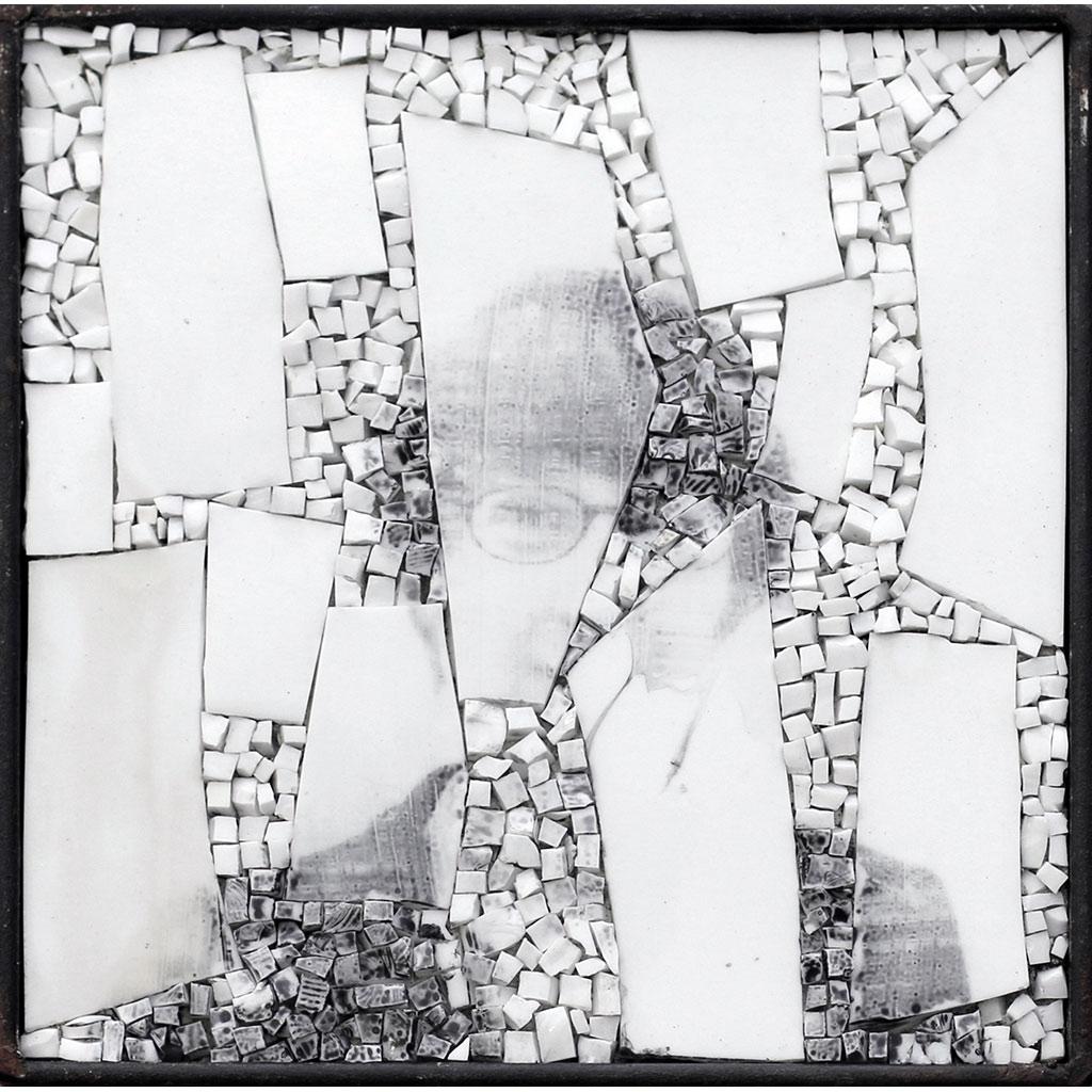 Monstre 3, portrait photographique sur mosaïque contemporaine