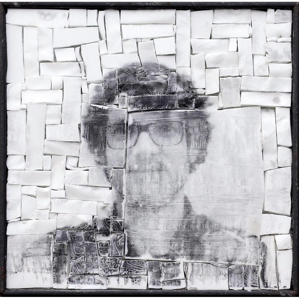 Monstre 6, photomontage par Clément Mitéran, photographie argentique sur mosaïque contemporaine