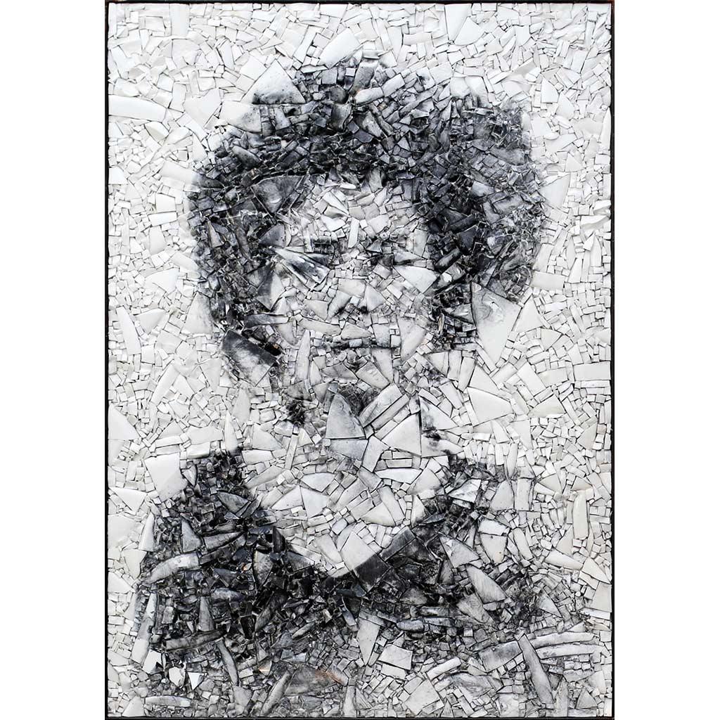 Scarti 1 - 92,5 x 65,5 cm - smalte blanc, photographie argentique
