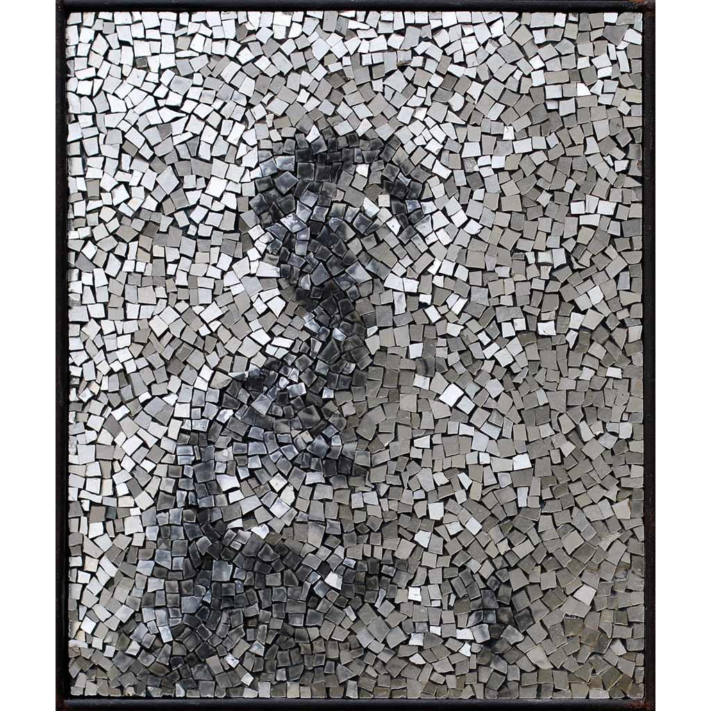 Simulacrum 1, photographie de portrait anonyme en mosaïque contemporaine par Clément Mitéran
