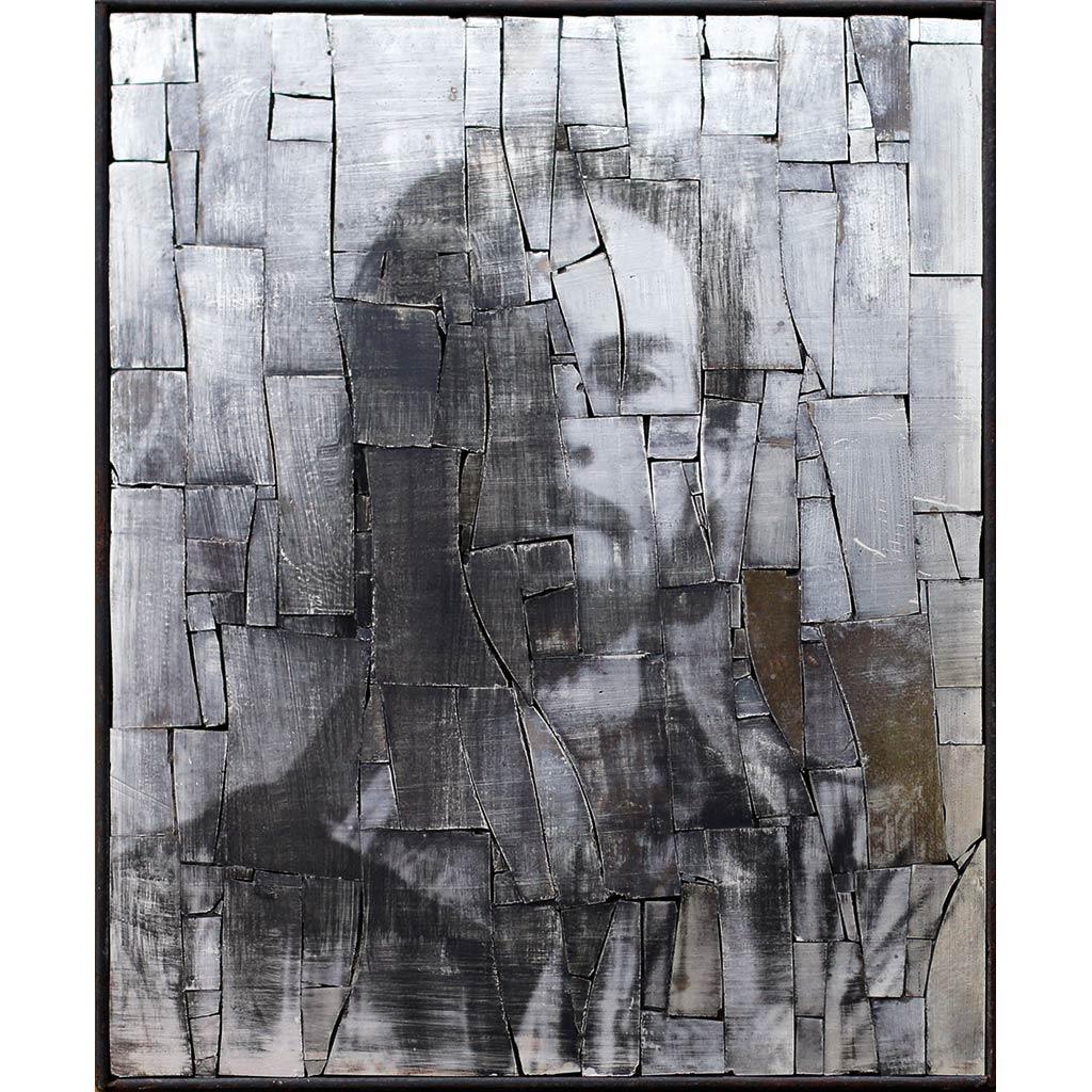 Simulacrum 2, portrait anonyme en photographie argentique sur or blanc par Clément Mitéran