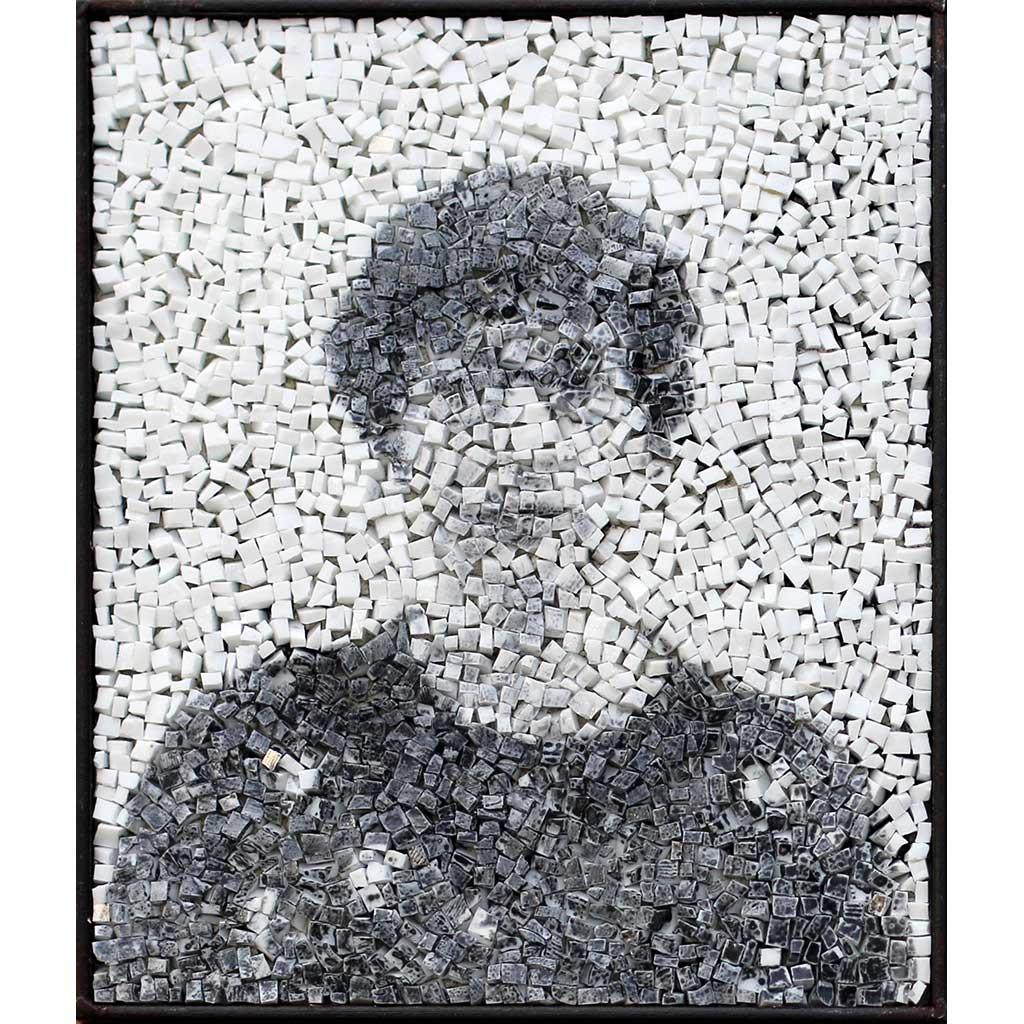 Spectre 3, portrait en photgraphie argentique anonyme en noir et blanc par Clément Mitéran