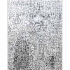 Lintoleum, portrait anonyme photographique sur mosaïque