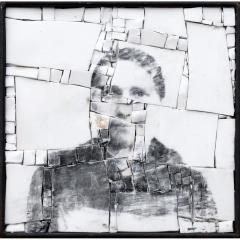 Monstre 9, portrait photographique anonyme en mosaïque par Clément Mitéran