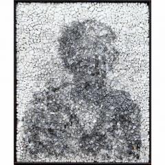 Spectre 1, portrait anonyme en noir et blanc par Clément Mitéran