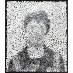 Spectre 2, portrait photographique anonyme en noir et blanc par Clément Mitéran