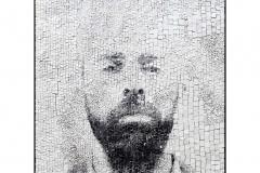 Giornate 3, portrait en photographie argentique sur mosaïque de verre blanc