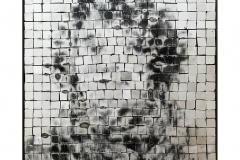 Simulacrum 4, portrait anonyme en photographie argentique sur or blanc, oeuvre de Clément Mitéran