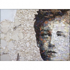 Portrait de Rimbaud en mosaïque contemporaine