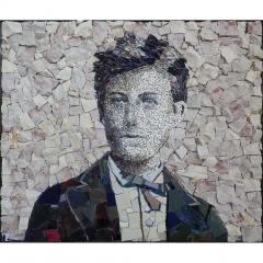 Portrait d'Arthur Rimbaud en mosaïque contemporaine