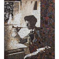 Portrait en mosaïque contemporaine de Charles Gevin