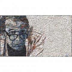 Portrait de Gilles Deleuze en mosaïque contemporaine