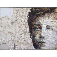 Portrait de Rimbaud en mosaïque contemporaine