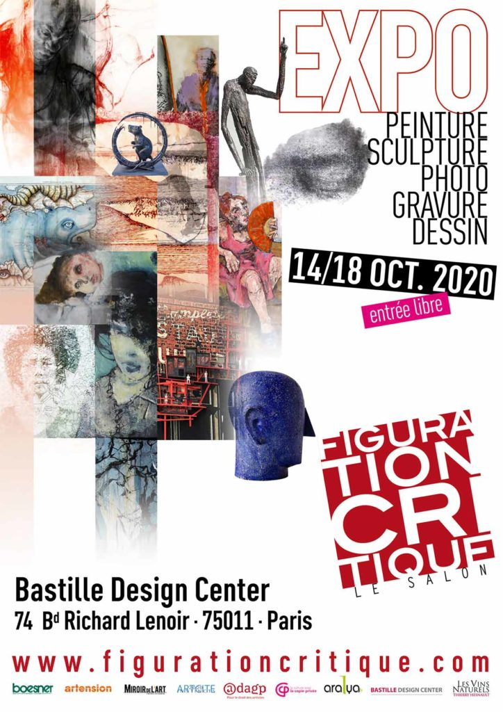 Affiche du salon Figuration Critique 2020 au bastille design center